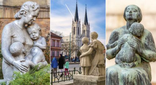 Anyák napjára: anyák és gyermekeik Szegeden, a köztéri műalkotásokon keresztül