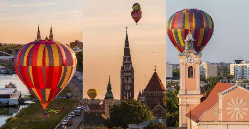 A napokban rendezték meg Szegeden az I. Közép-Európa Kupa hőlégballonversenyét