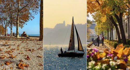 Egy verőfényes október 23 hangulatképei Balatonfüredről