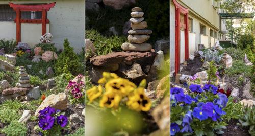 Egy újabb szegedi lakótelepi közösségi kert, ezúttal japánkert stílusban