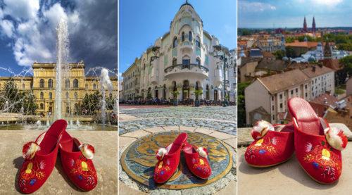 Városunk nevezetes pontjain bukkant fel a híres Szegedi-papucs