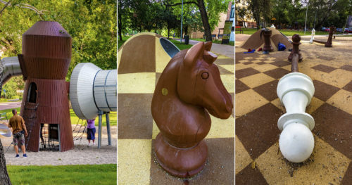 Szeged legújabb játszótere városunk sakkolimpiai bajnoka előtt tiszteleg