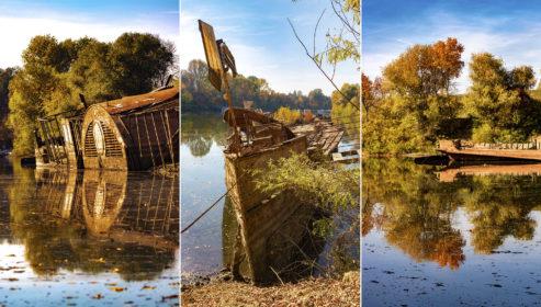 Így fest napjainkban a legendás Szőke Tisza hajó roncsa, a szeged-tápéi téli kikötőben