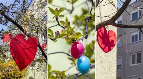 Egy különleges tavaszi tojásfa Szegedről, a járványhoz kapcsolódó üzenettel