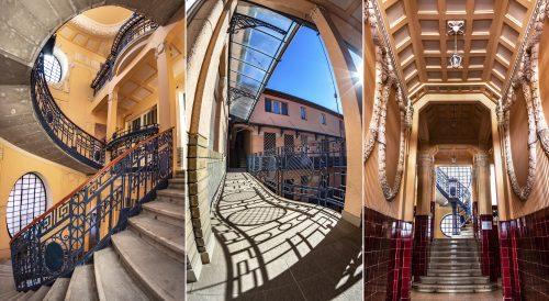 A szegedi Ungár-Mayer-ház gyönyörű szecessziós lépcsőházában
