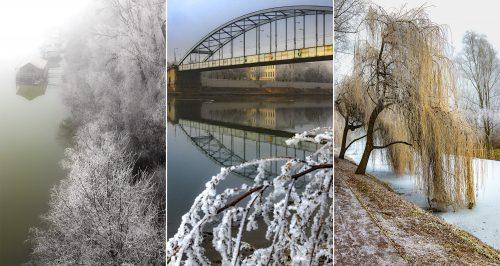 Januári zúzmarás hangulatképek Szegedről és környékéről