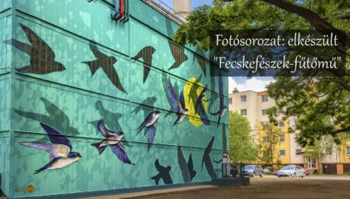 """Tovább szépülnek a szegedi paneltelepek: elkészült a """"Fecskefészek-fűtőmű"""" új festése"""