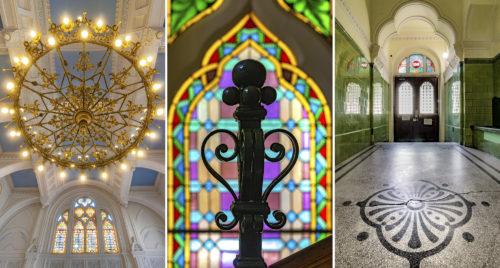 A Szegedi Zsidó Hitközség székházának belső szépségei, a lépcsőháztól a díszteremig
