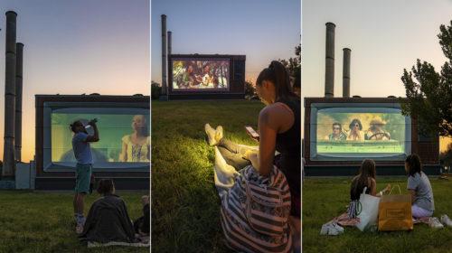 Megvolt a próbavetítés a fűtőműből varázsolt óriás TV-n, indulhat a legújabb szegedi szabadtéri mozi