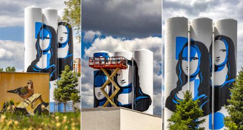 Friss sorozat: így készül a legújabb óriás falfestmény a szegedi Makkosházi körúton
