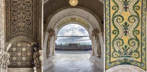 Fotósorozat a szegedi Dóm főbejáratának részleteiről és rejtett szépségeiről