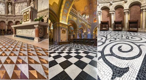 A szegedi Dóm padlózatának különleges formái és mintái
